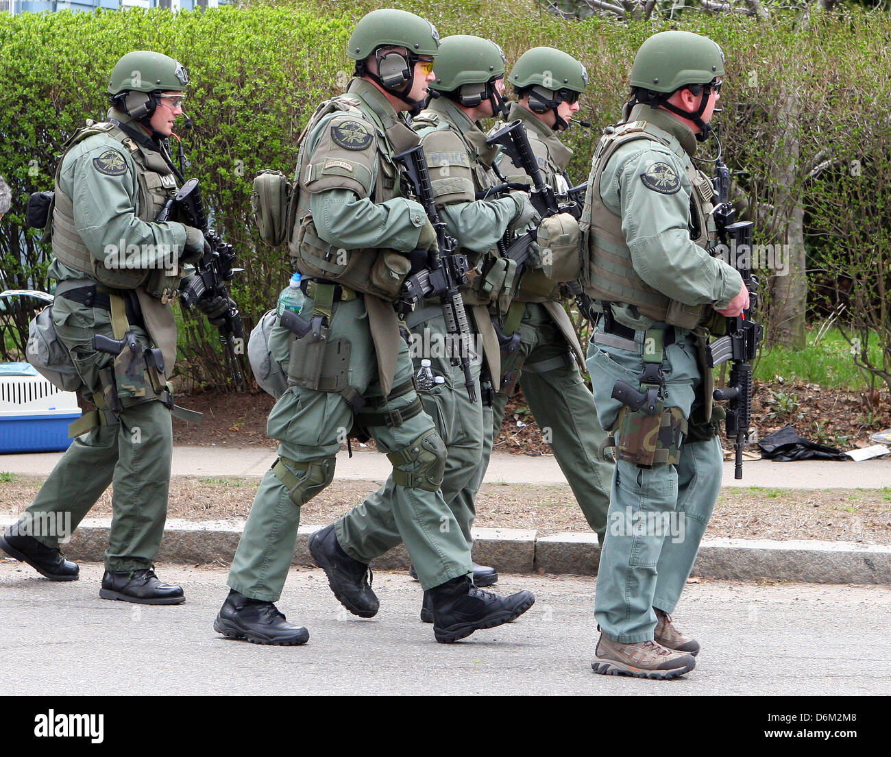 Watertown, Massachusetts, USA. 19th April, 2013. The SWAT team Stock ...