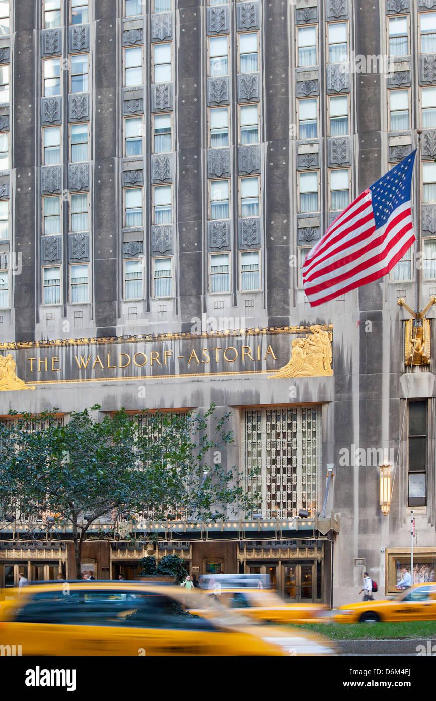 waldorf astoria new york exterior stock photos waldorf. Black Bedroom Furniture Sets. Home Design Ideas