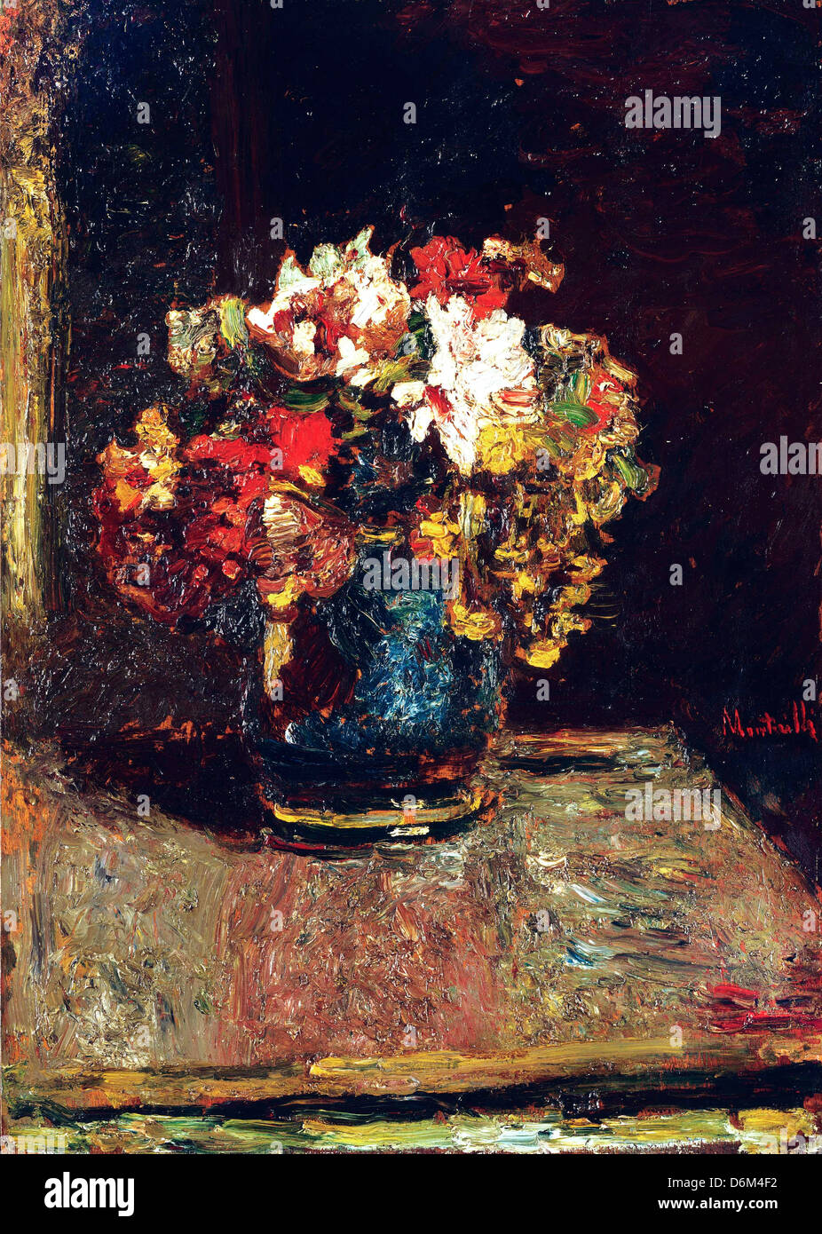 Adolphe Monticelli, Bouquet. Circa 1875 Oil on wood panel. Phillips Collection, Washington, D.C., USA - Stock Image