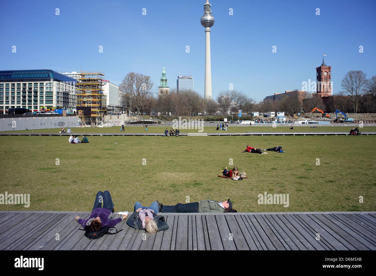 Berlin, Germany, Schlossplatz in Berlin-Mitte - Stock Image