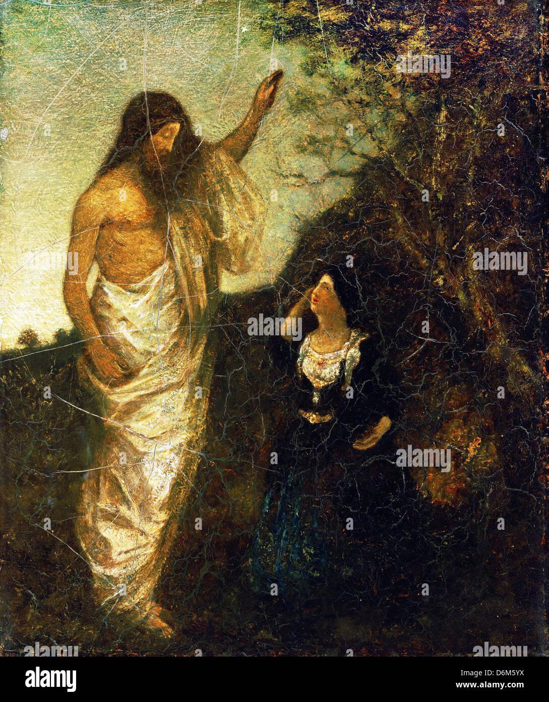 Albert Pinkham Ryder, Resurrection 1885 Oil on canvas. Phillips Collection, Washington, D.C., USA - Stock Image