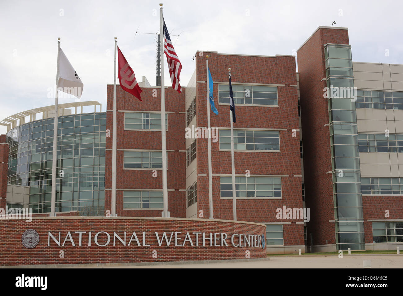 The National Weather Center in Norman, Oklahoma Stock Photo