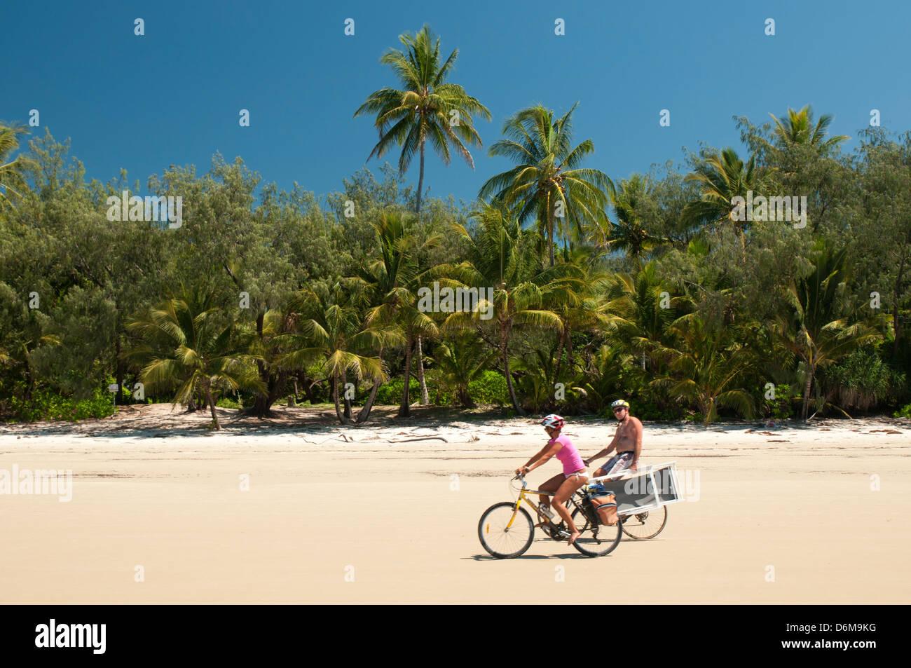 beach at Port Douglas, Far North Queensland, Australia - Stock Image
