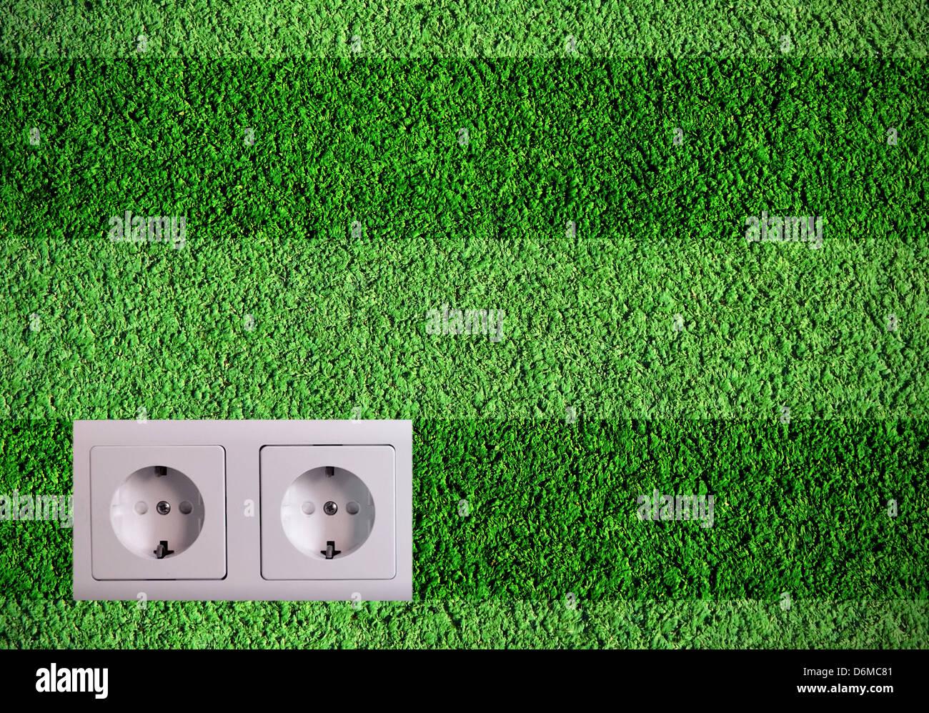 Green energy concept - Stock Image