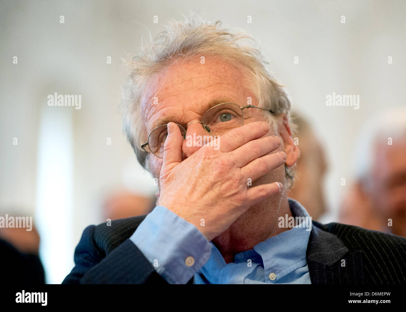 Daniel Cohn-Bendit, EU politician of the Greens and publicist, prior to the award ceremony of the Theodor Heuss Stock Photo