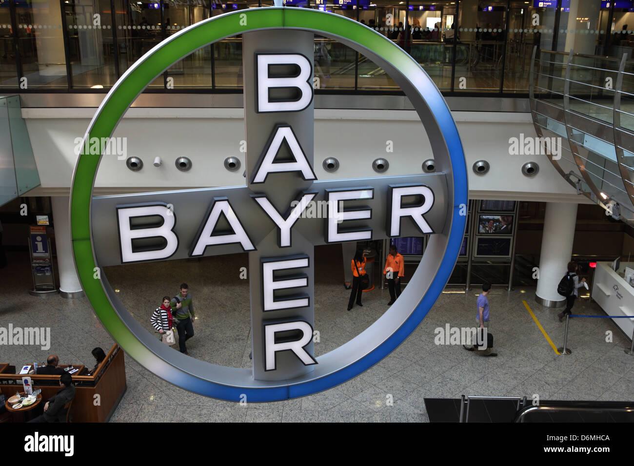 Frankfurt am Main, Germany, company logo of Bayer AG - Stock Image