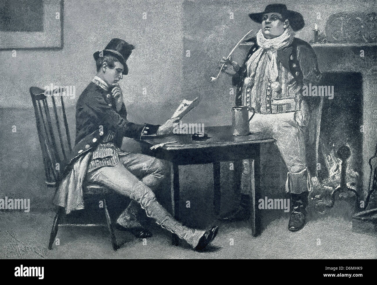 Sam Weller is the Mr. Pickwick's valet in Charles Dickens' 1836 novel titled The Pickwick Papers. - Stock Image