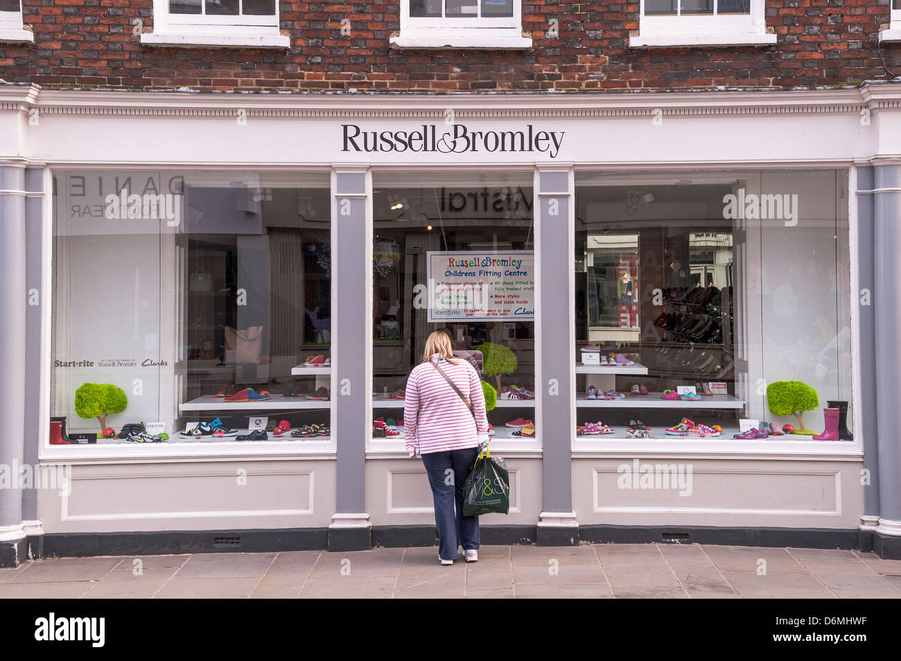 The Russell & Bromley Shop store in Salisbury , Wiltshire , England , Britain , Uk - Stock Image