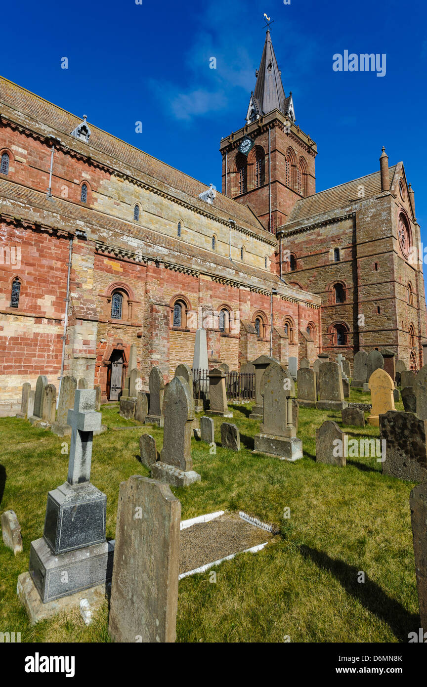 St Magnus Cathedral - Britain's most northerly Cathedral Orkney - Stock Image