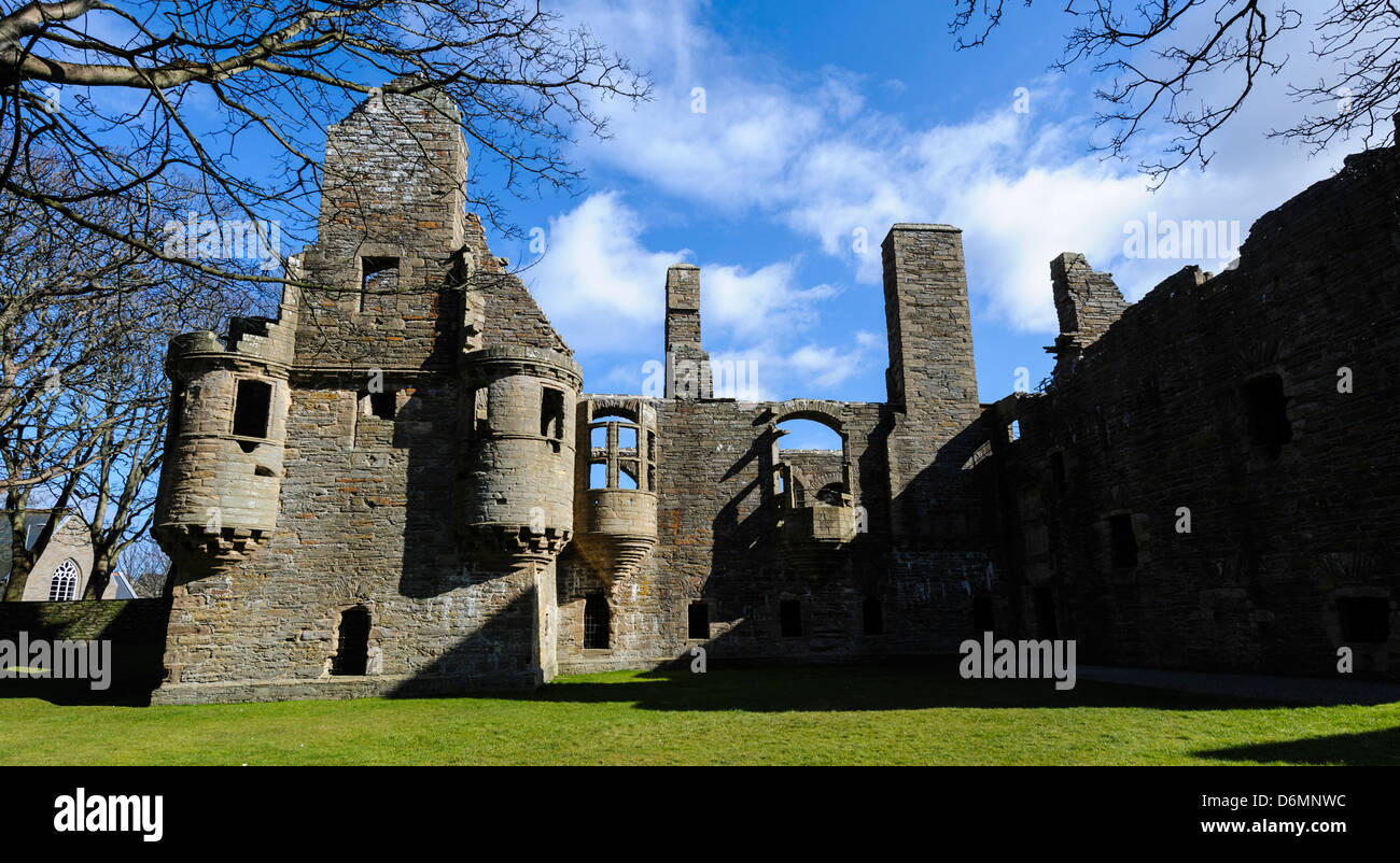 The Earl's Palace, Kirkwall Orlney Scotland - Stock Image