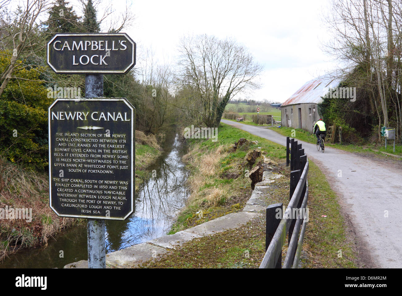 Campbell's Lock on the Newry Canal, near Scarva, Northern Ireland - Stock Image