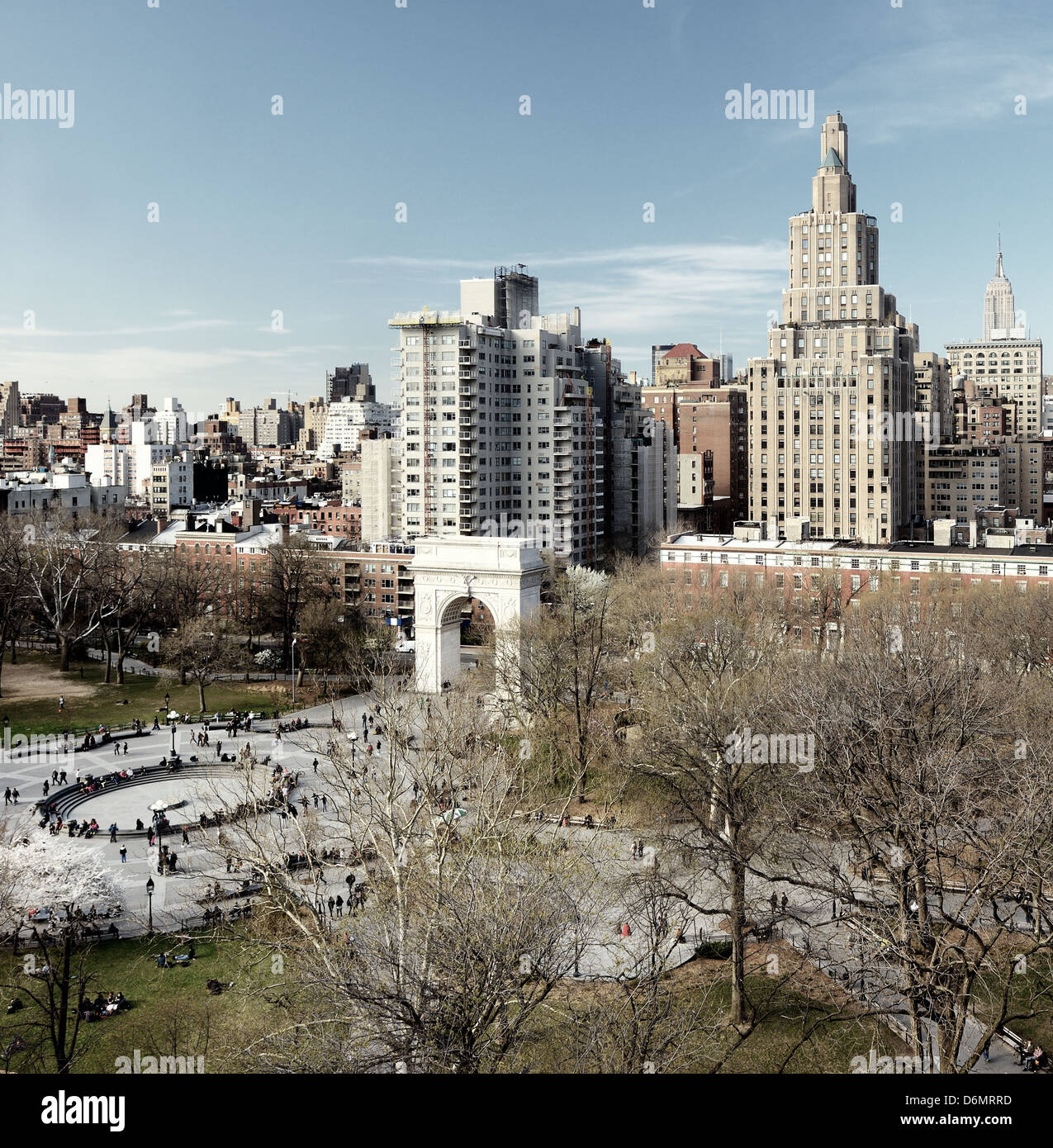 Washington Square Park in New York City - Stock Image