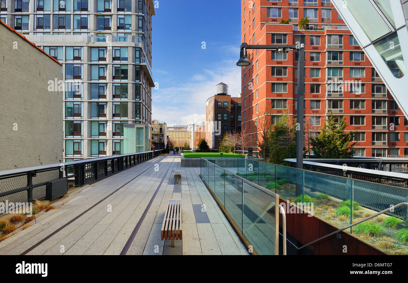 High Line Park in New York City. - Stock Image
