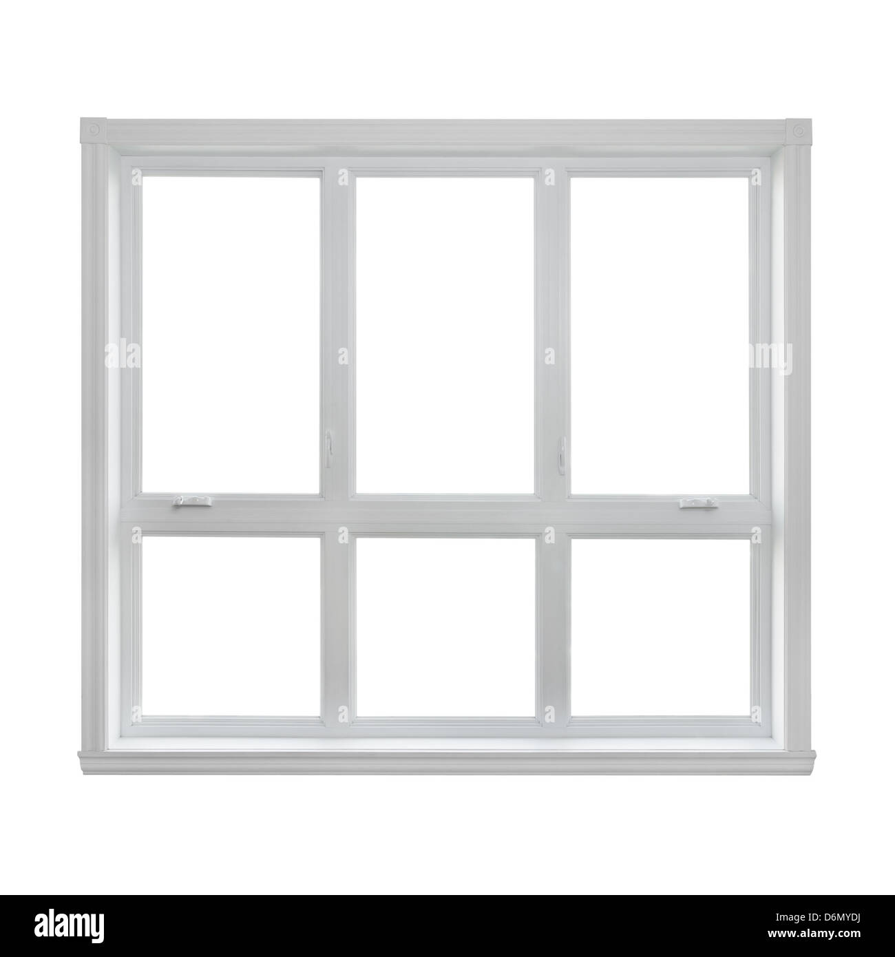 Modern window isolated on white background, with copy space. - Stock Image