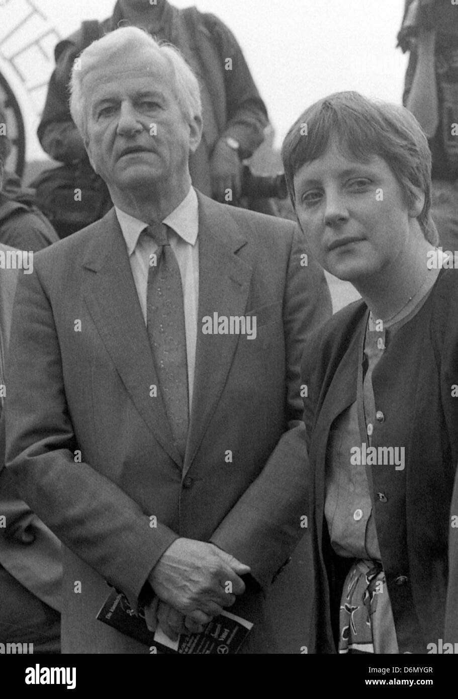 Hoppe Garden, Germany, Richard von Weizsaecker, Federal President, CDU, Angela Merkel, German Federal Minister, - Stock Image