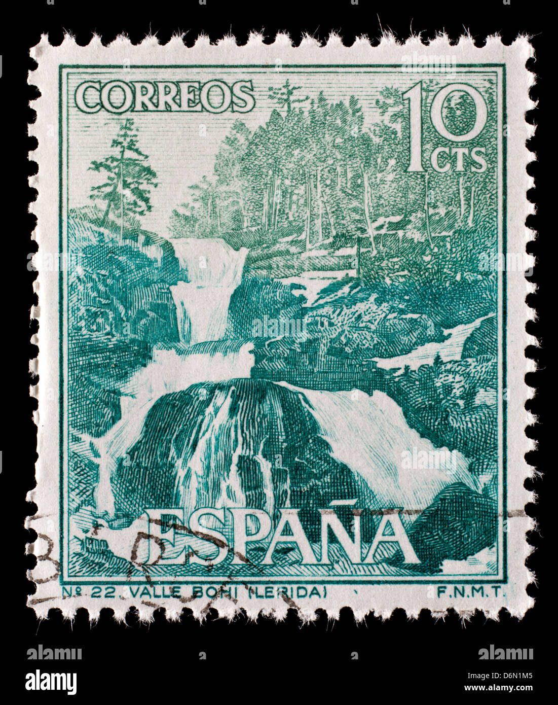 Postage Stamp From Spain Depicting The Bohi Valley