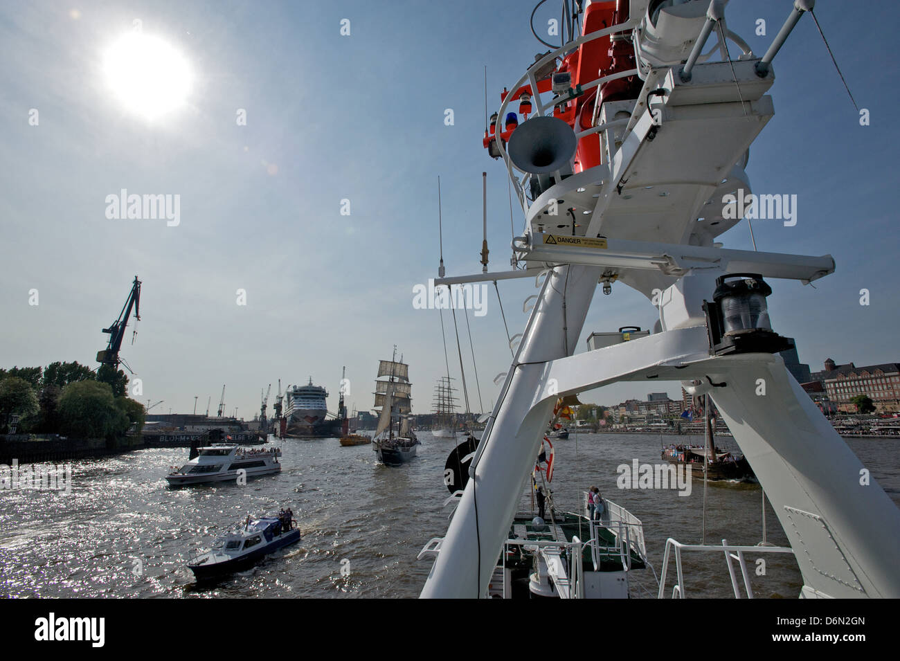 Hamburg, Germany Essberger, the rescue cruiser John T. - Stock Image