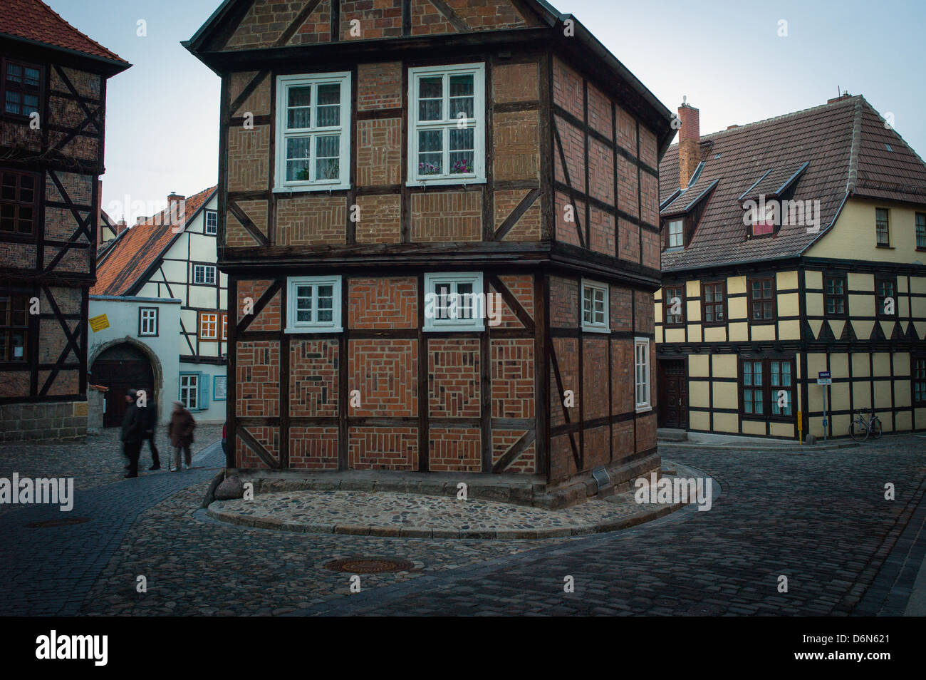 Quedlinburg, Germany, the fire lane in the old town - Stock Image