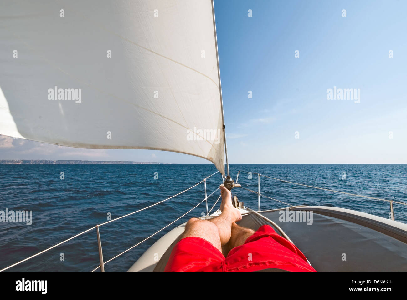 enjoyment,relaxation,leisure,relaxation,recreation,sail,sailboat,sailing - Stock Image