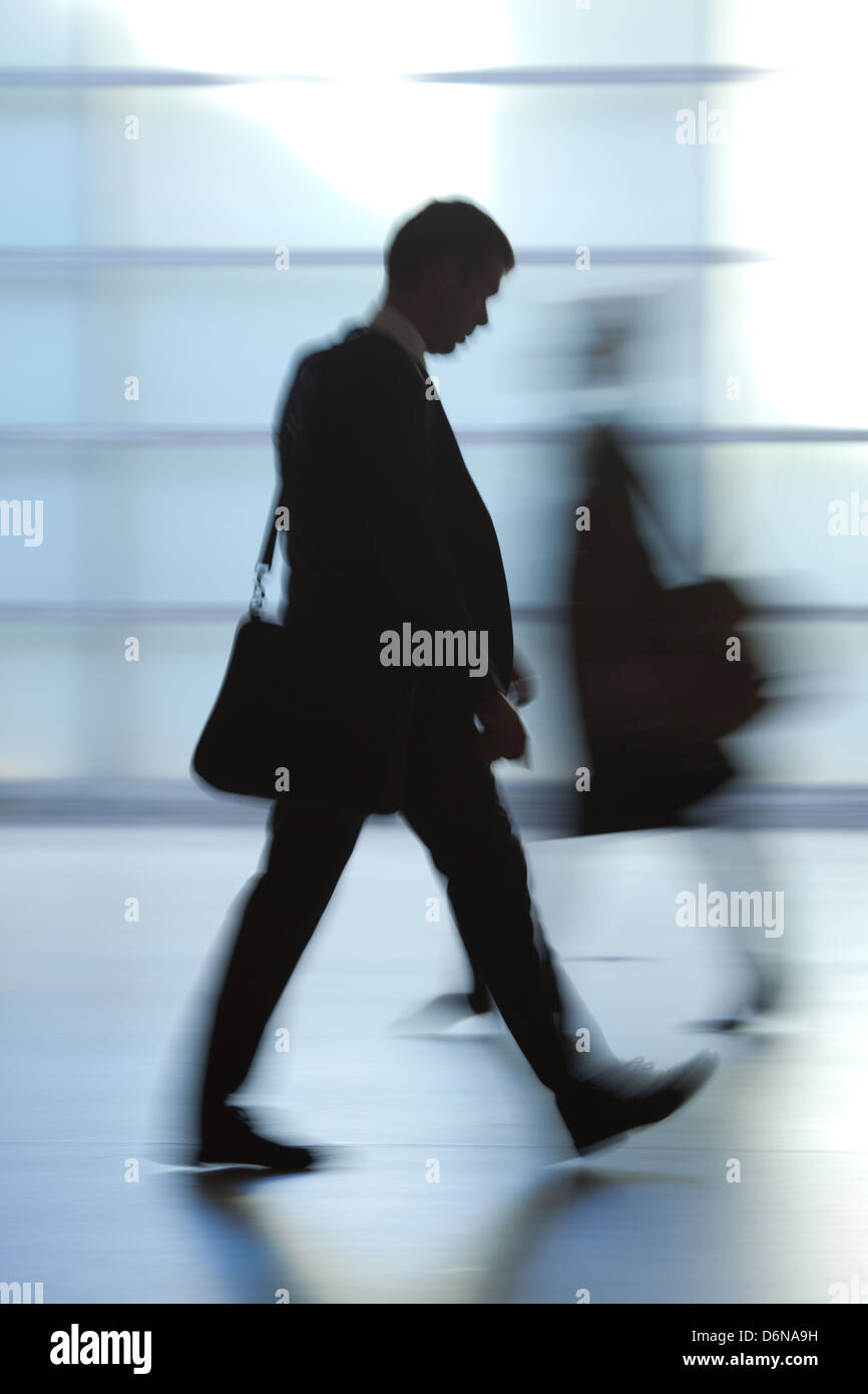 Berlin, Germany, silhouette of a man in a suit - Stock Image