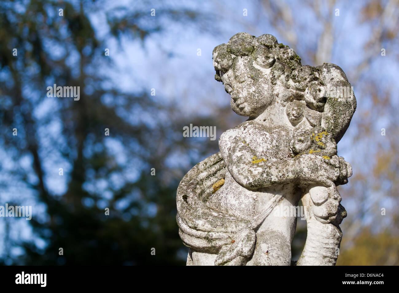 Berlin, Germany, a cherub with patina - Stock Image