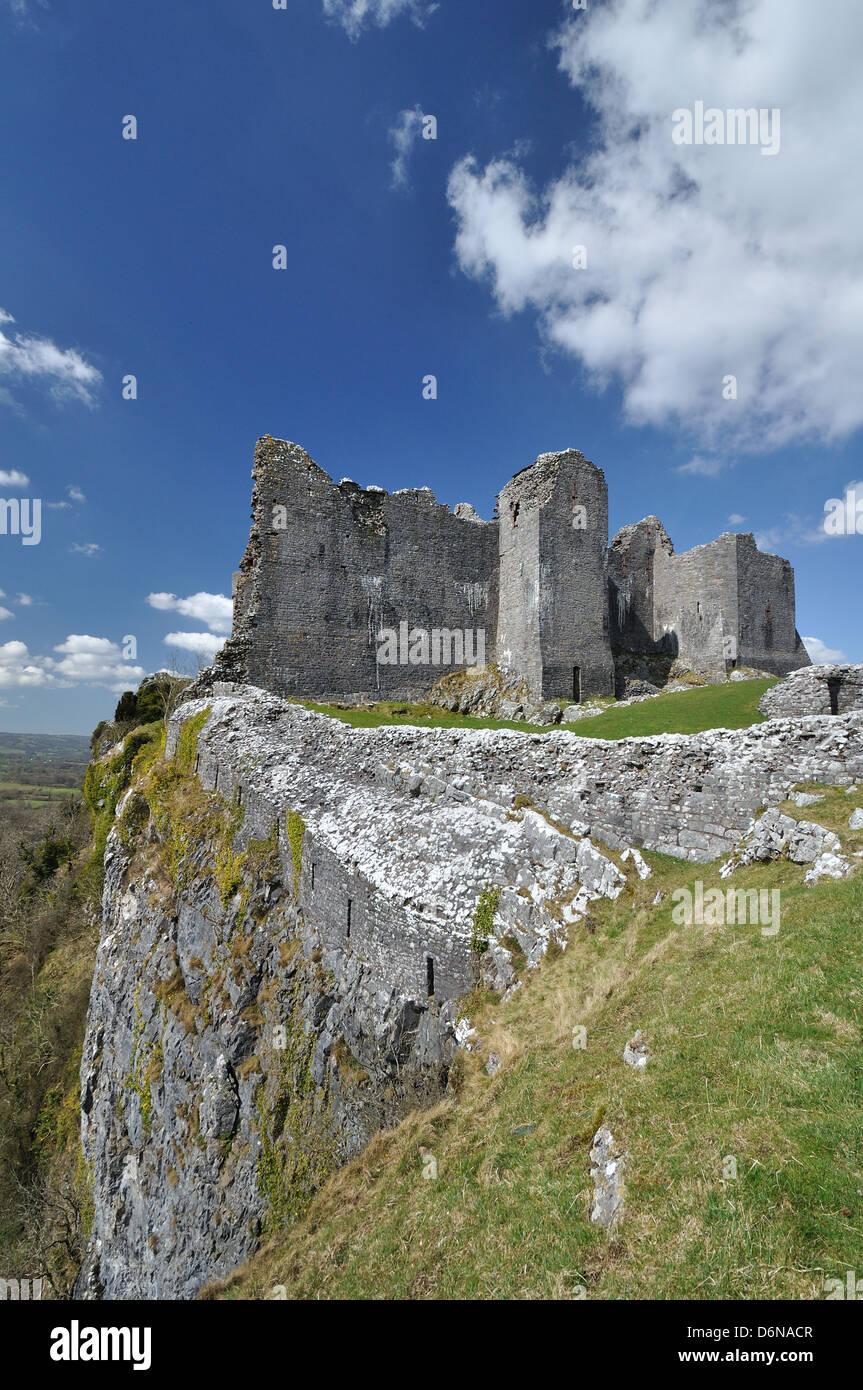 The Wonderful Carreg Cennen Castle, Wales - Stock Image