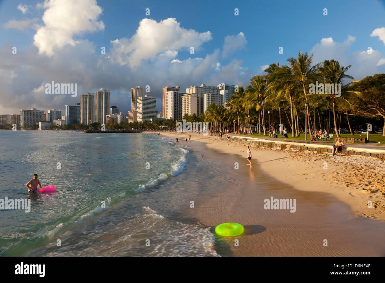 Waikiki, Honolulu, Oahu, Hawaii - Stock Image