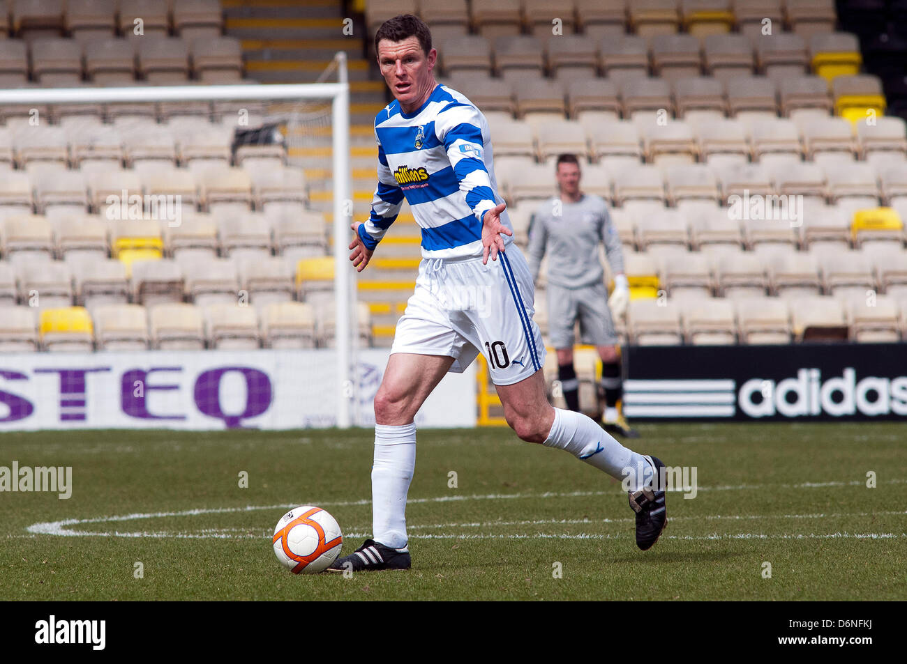 Livingston, Scotland, UK. Saturday 20th April 2013. Martin Hardie  in action during the Livingston v Morton, SFL - Stock Image