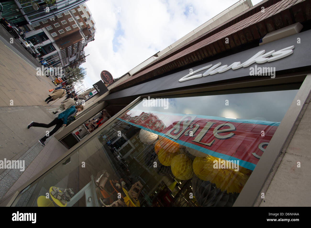 c0ffaf9d Clarks shoe shop Oxford street London Stock Photo: 55793650 - Alamy