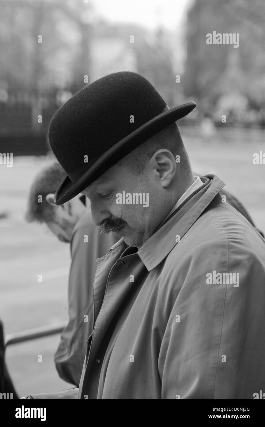 Street photography at the funeral of lady Thatcher 17th of April 2013 - Stock Image