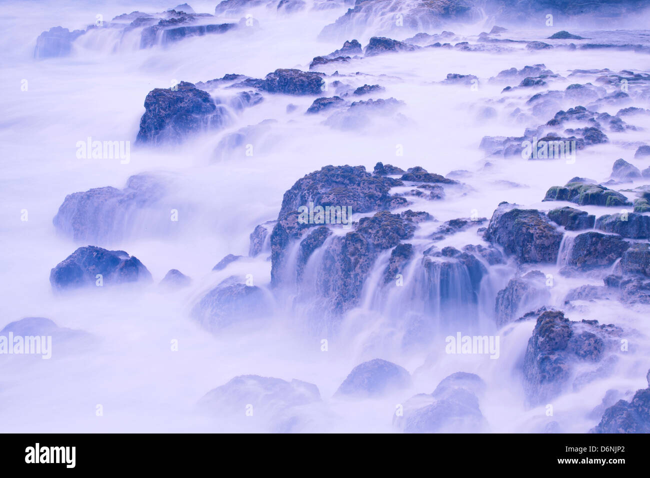 ocean waves, MacKenzie State Recreation Area, Big Island, Hawaii Stock Photo