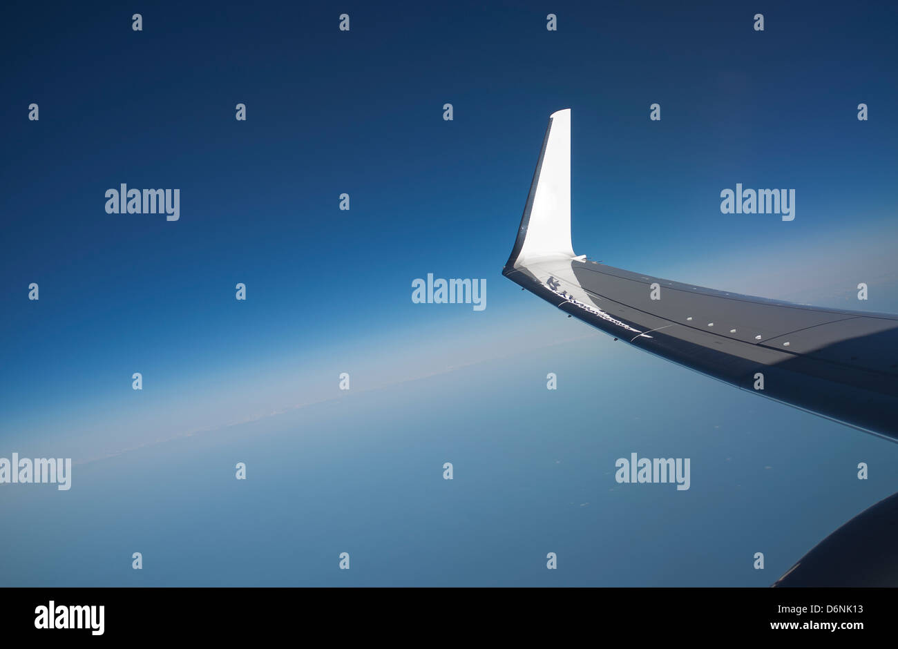 Winglet on a Boeing 737-800 jet aircraft - Stock Image