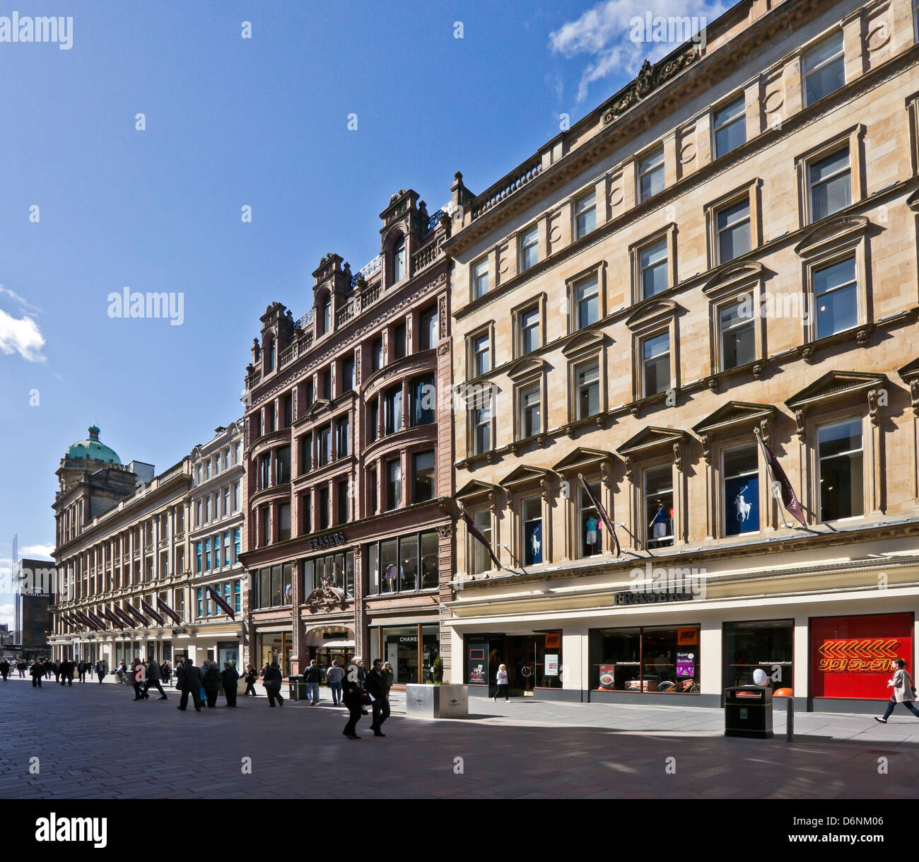 The House of Fraser department store in Buchanan Street Glasgow Scotland - Stock Image