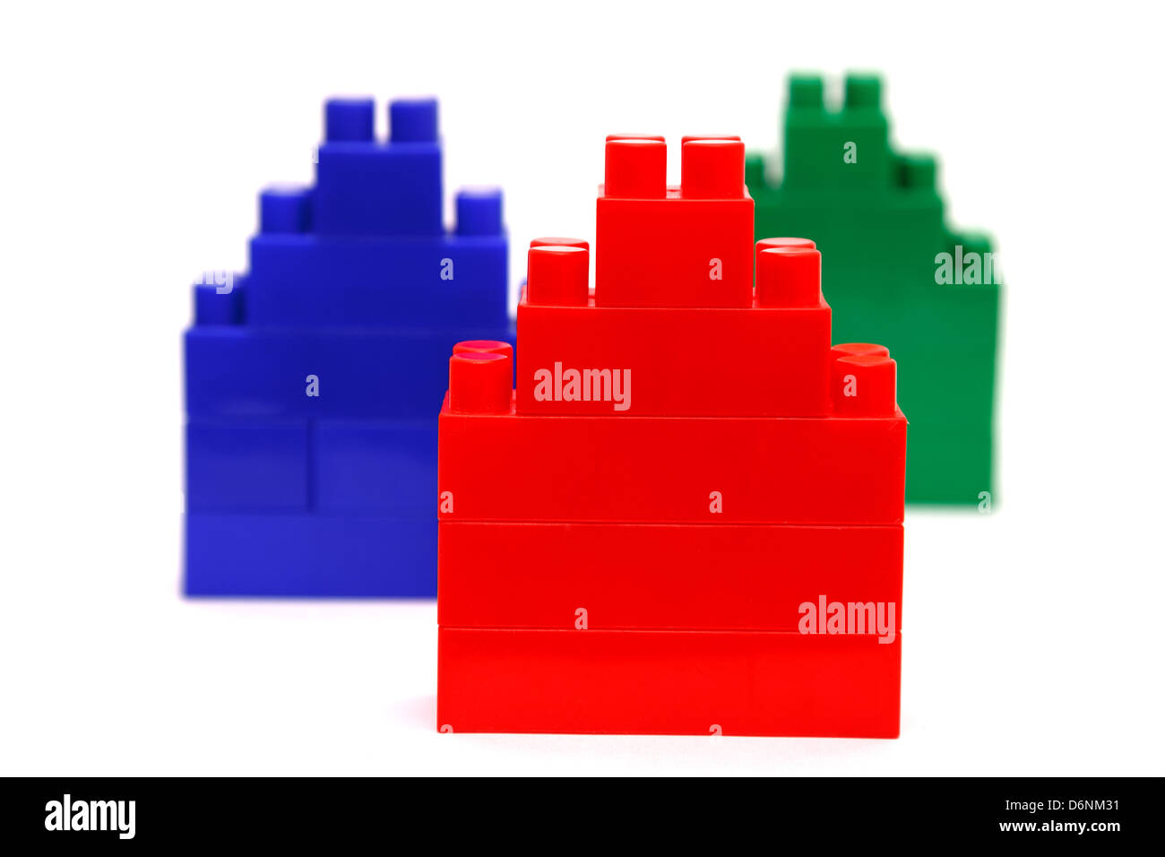building set for children isolated on white Stock Photo