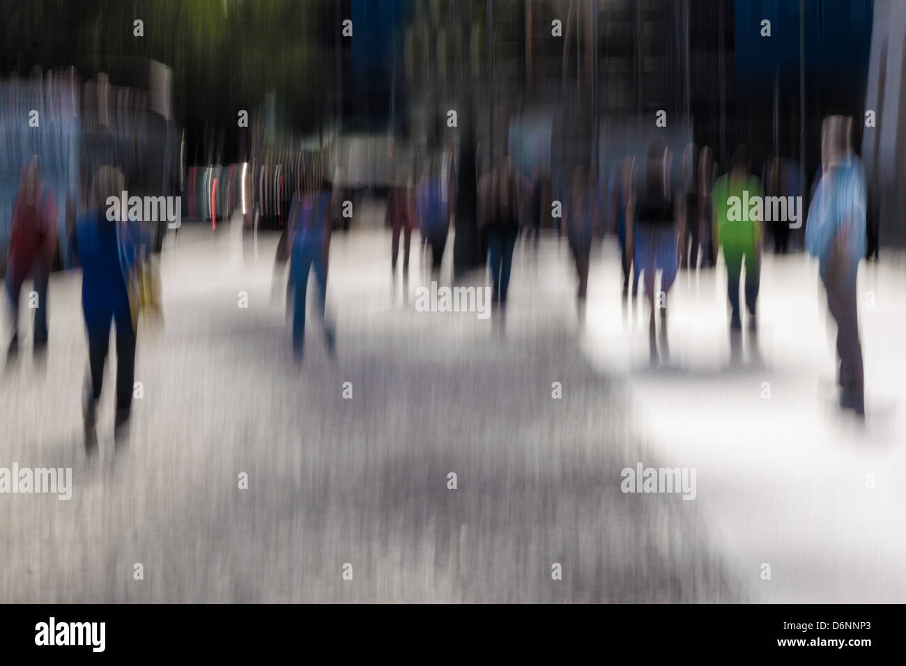 Berlin, Germany, passersby on the street Unter den Linden Stock Photo