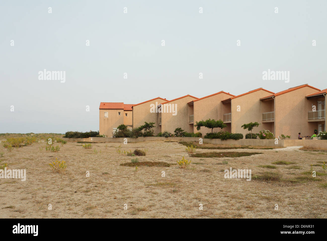 Le Barcares, France, Holiday-house in a recreation area in the seaside resort of Le Barcares - Stock Image