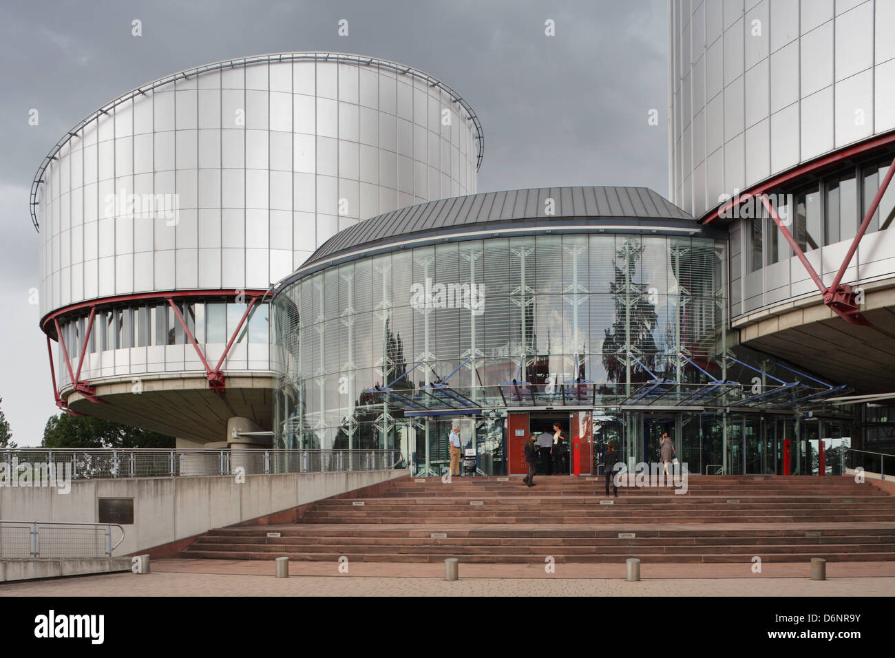 Strasbourg, France, entrance to the European court of Human Rights - Stock Image