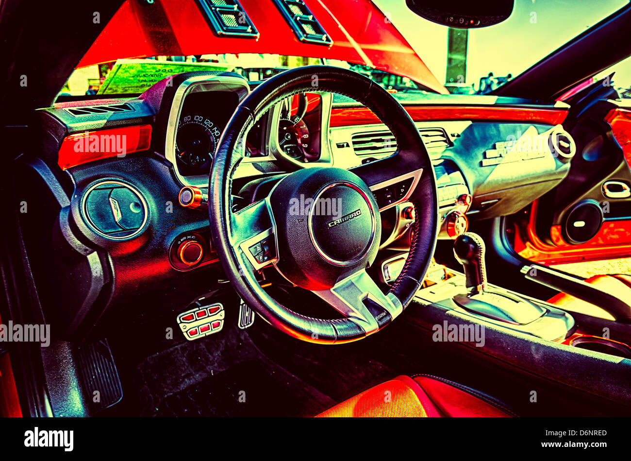 Interior of Chevy Camaro - Stock Image