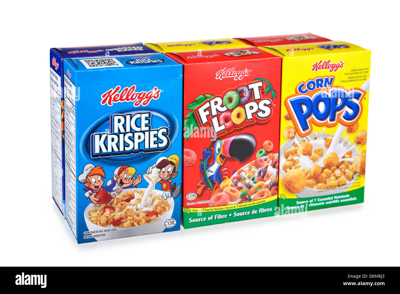 Cereal Boxes, Kellogg's, Breakfast Cereals - Stock Image