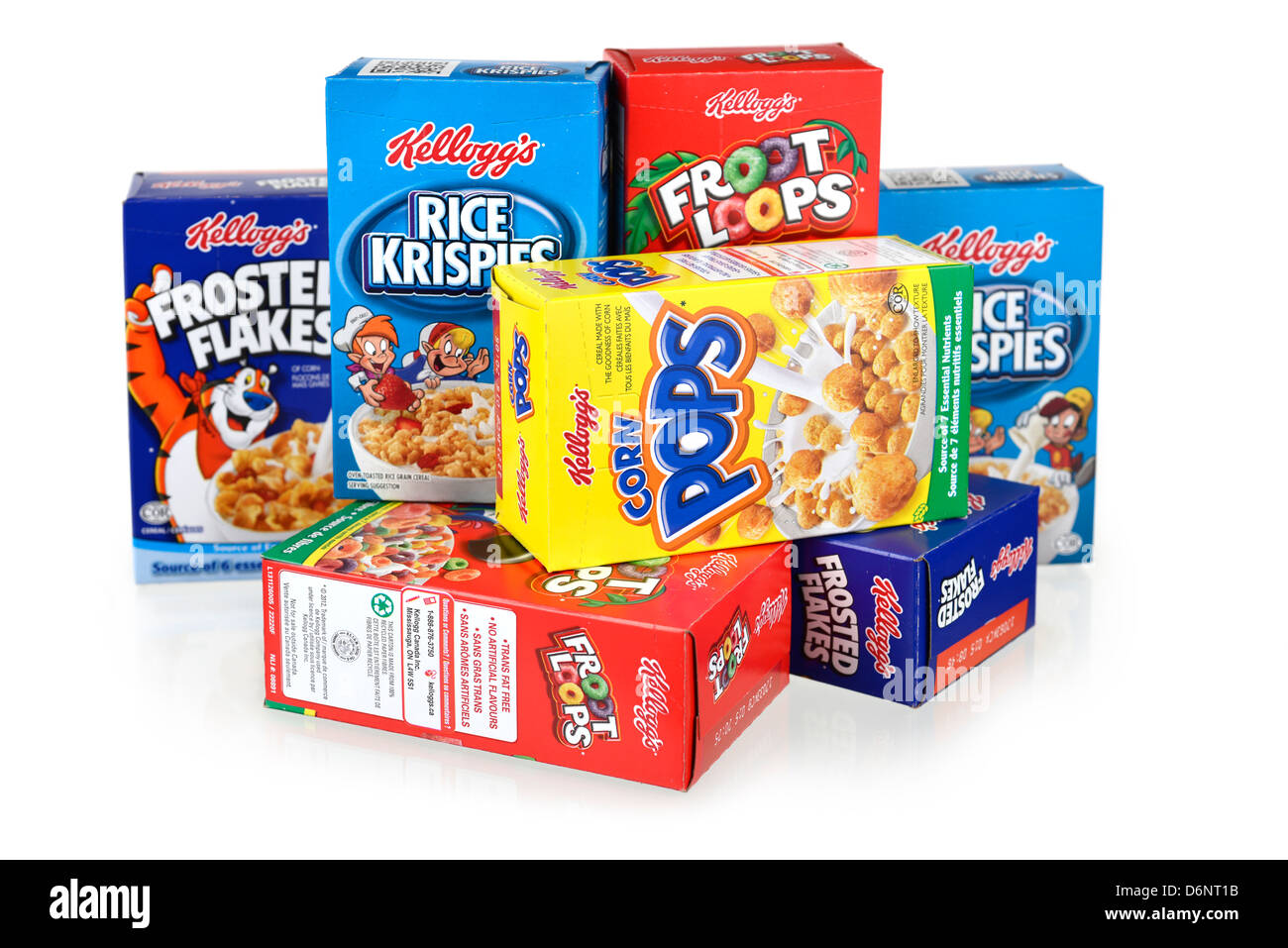 Cereal Boxes, Kellogg's - Stock Image