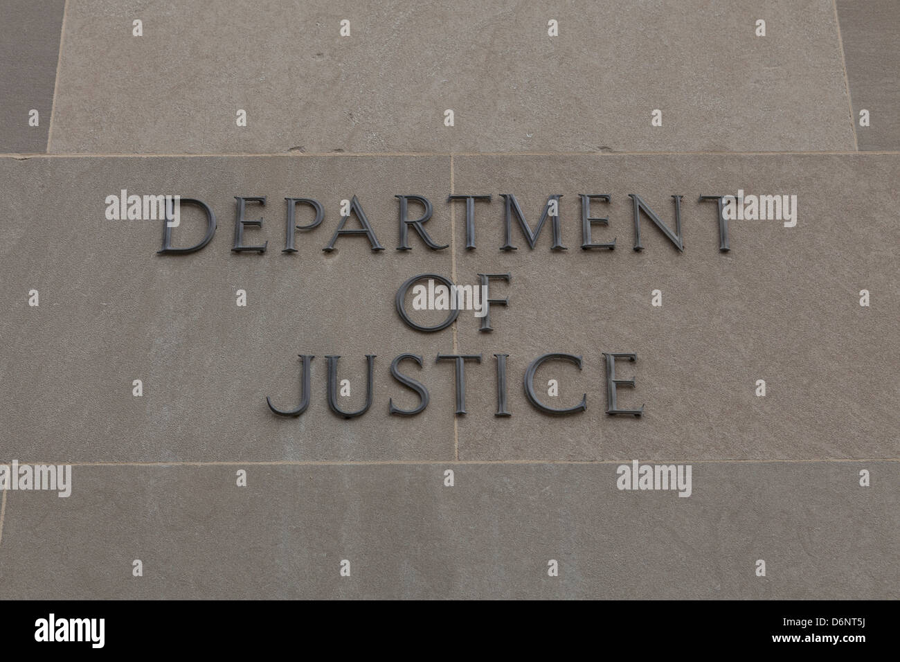 Department of Justice building, Washington DC - Stock Image