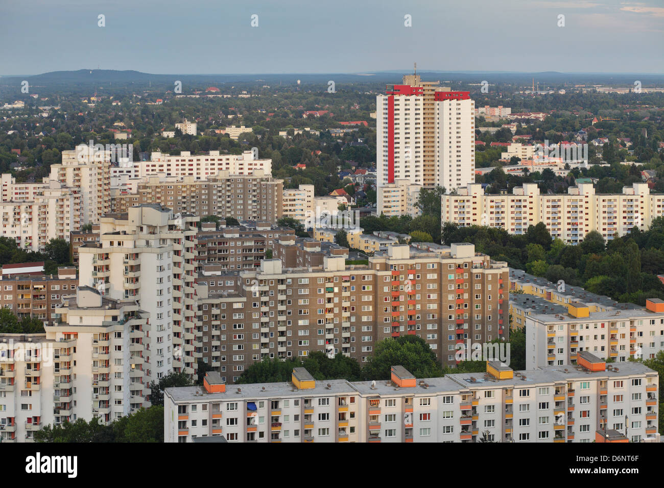 Berlin, Germany, Gropius survey of the city in the evening light Stock Photo