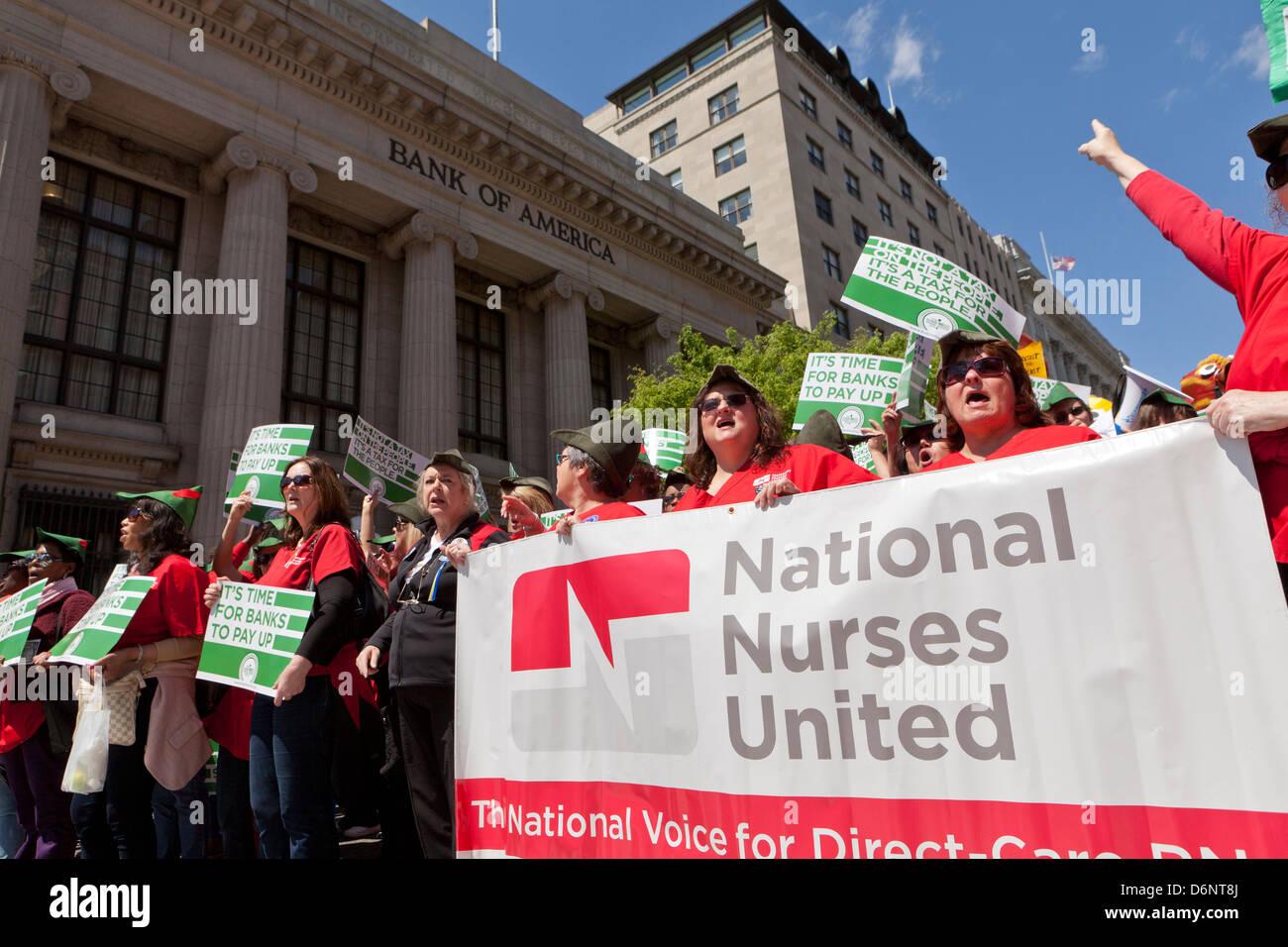 Robin Hood Tax supporters rally - Washington, DC USA Stock Photo