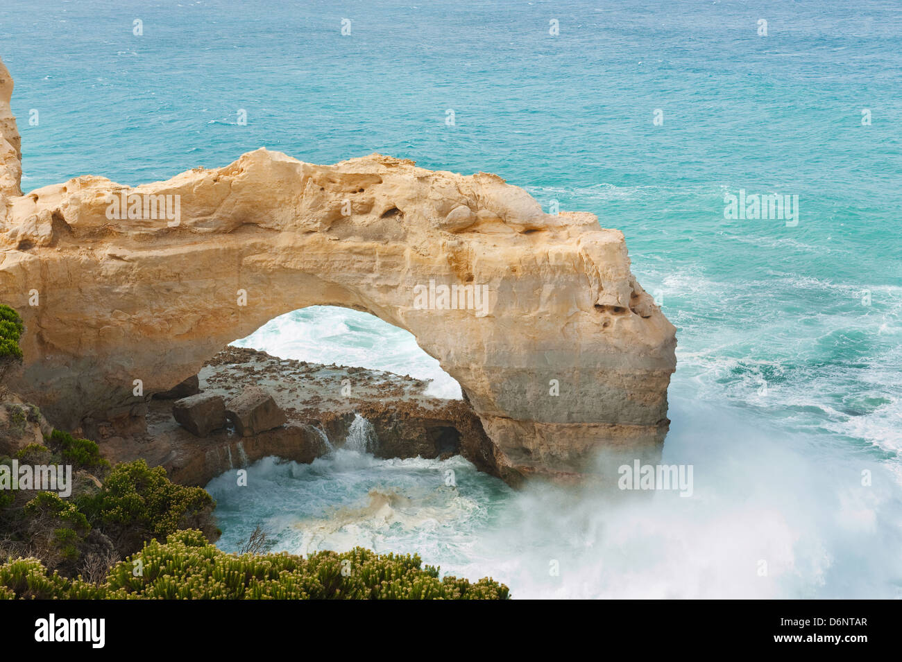 Famous rocks The Arch ,Great Ocean Road, Australia - Stock Image