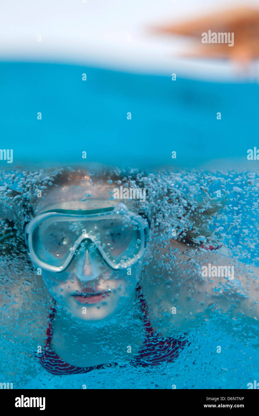 Egypt, a girl emerges - Stock Image