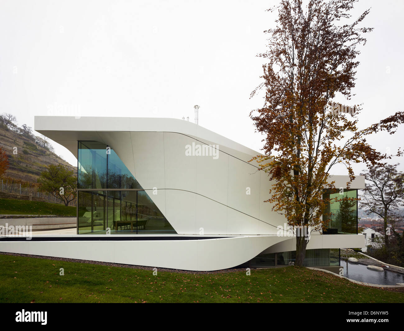 Haus am Weinberg, Stuttgart, Germany. Architect: UN Studio, 2011. Stock Photo
