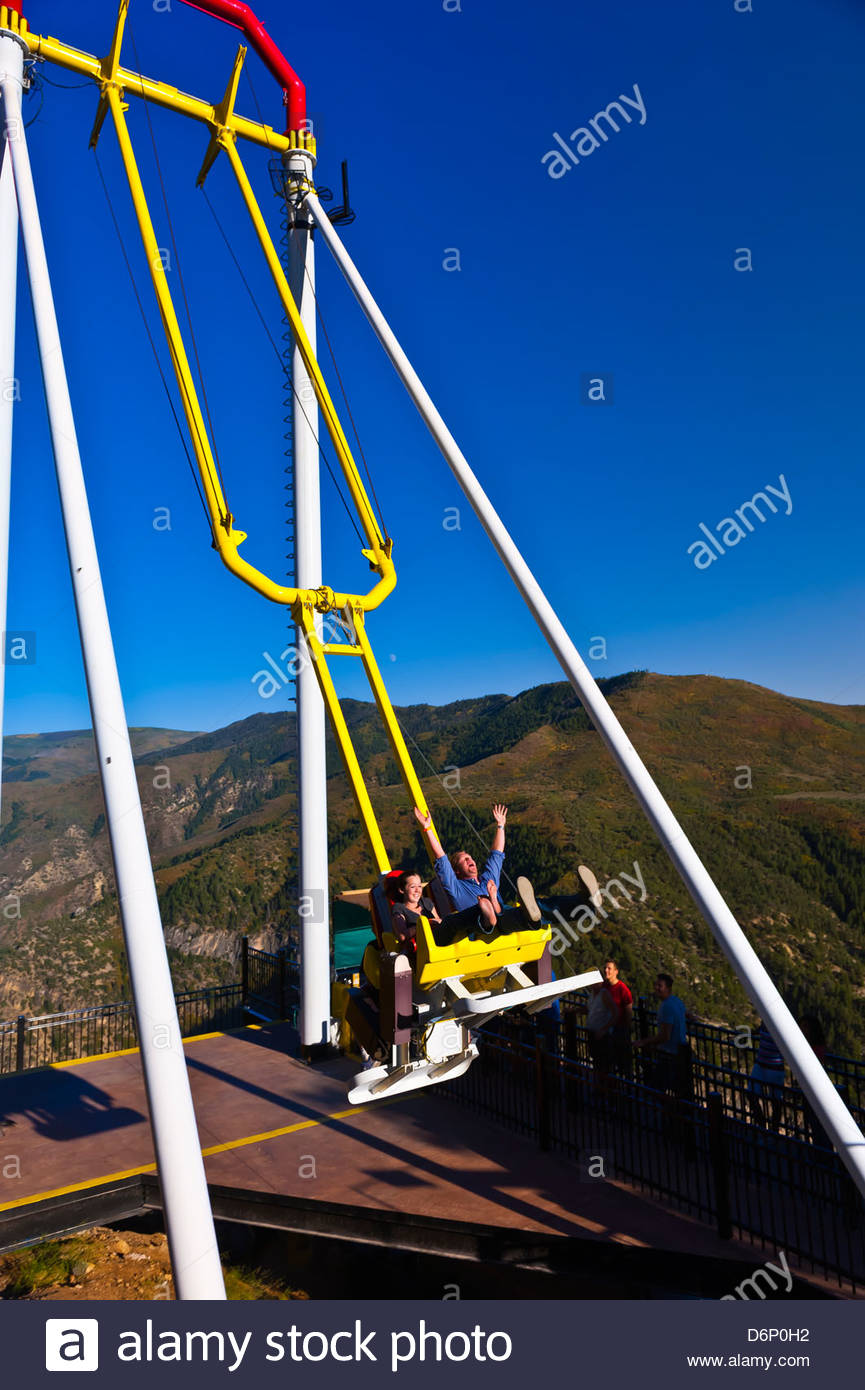 Giant Canyon Swing 1300 Feet Above The Colorado River Glenwood