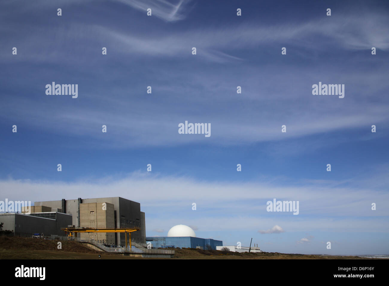 sizewell nuclear power plant on the suffolk coast - Stock Image