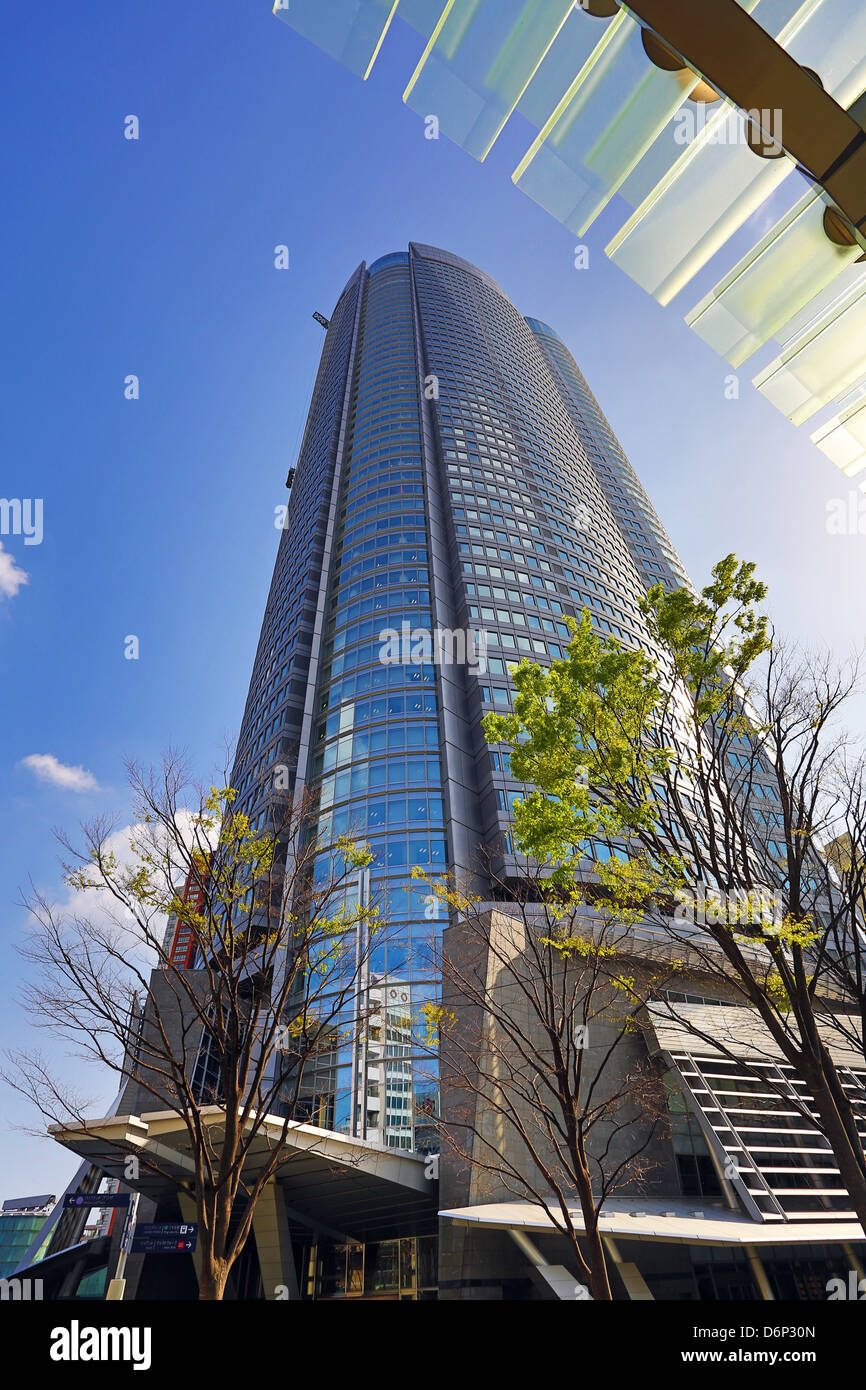 Mori Tower high rise office building in Roppongi Hills, Tokyo, Japan Stock Photo