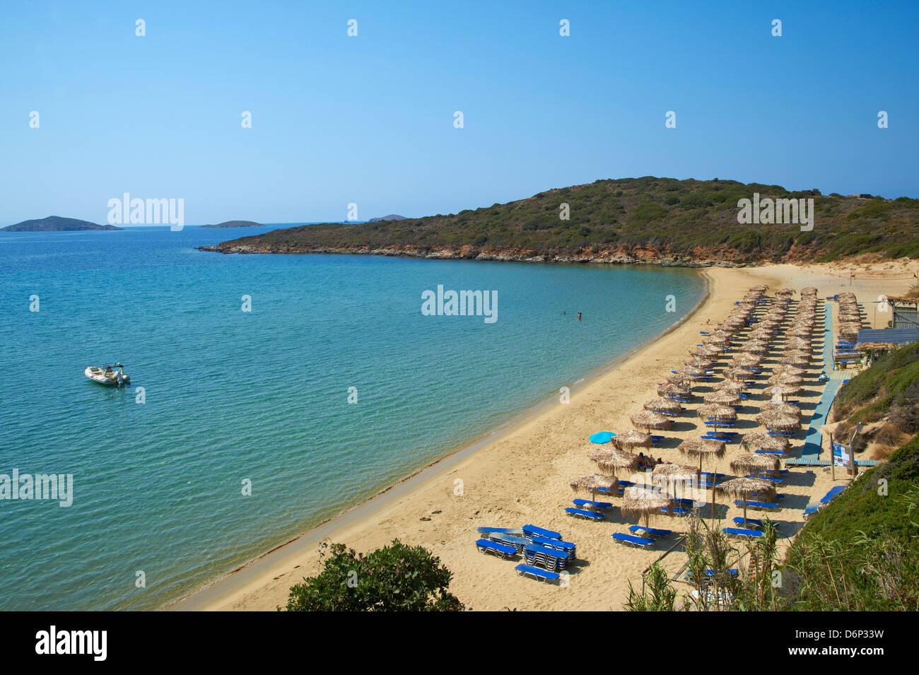 Agios Petros beach Andros Island Cyclades Greek Islands Greece